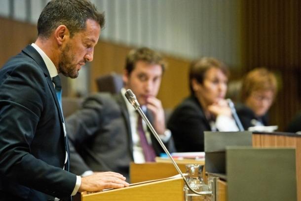 El president del grup parlamentari socialdemòcrata, Pere López.