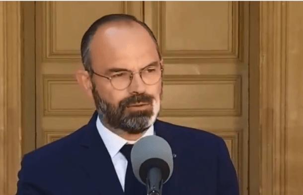 El primer ministre francès, Edouard Philippe, ahir.
