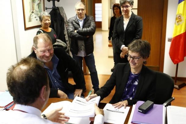 Jordi Font i Susana Vela, han presentat la llista del PS a Escaldes
