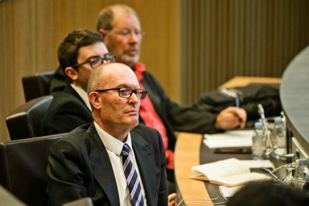 El conseller socialdemòcrata Quim Miró, en una sessió al Consell