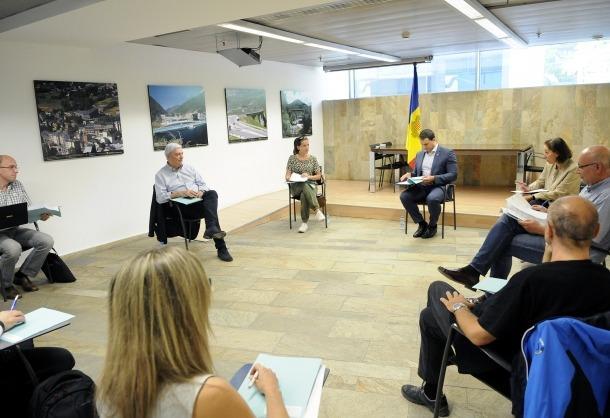 Un moment de la reunió del Consell Econòmic i Social d'aquesta tarda.
