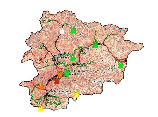 El Govern activa el protocol per risc d'incendis extrem a la zona central del país
