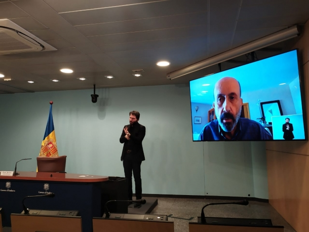 Joan Martínez Benazet, en la compareixença d'aquest migdia.