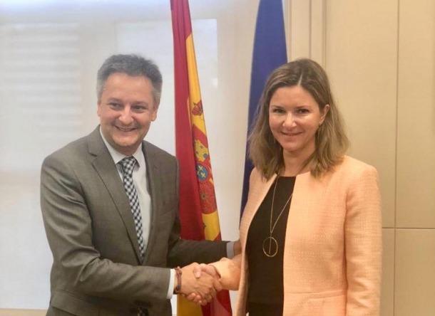 Saboya amb la secretària general de Transports espanyola, María José Rayo.
