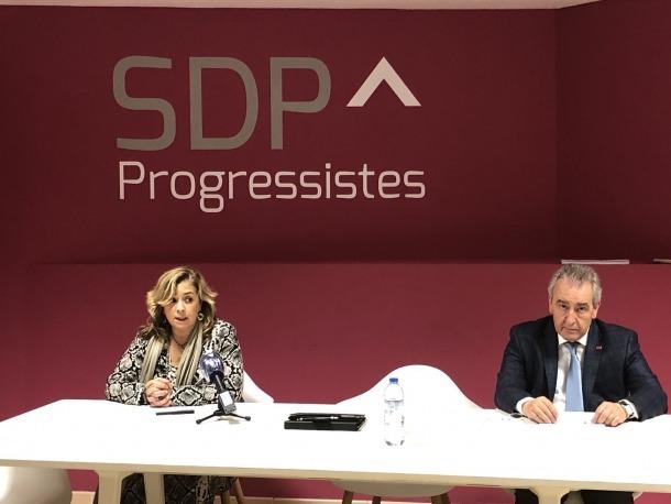 Zoppetti i Bartumeu en la roda de premsa d'aquesta tarda.