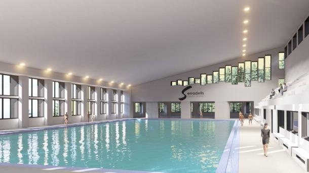 Imatge que recrea com quedarà la piscina dels Serradells un cop reconstruïda.