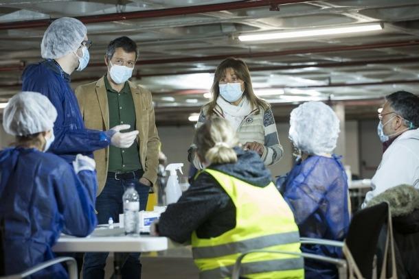 Els cònsols a l'Stop Lab d'Andorra la Vella.