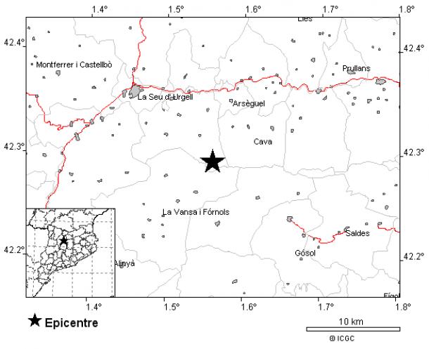 La zona on ha tingut lloc el nou sisme.