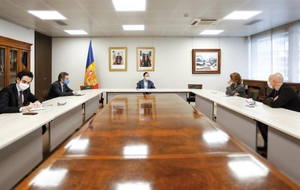 La trobada amb els cònsols d'Escaldes-Engordany.