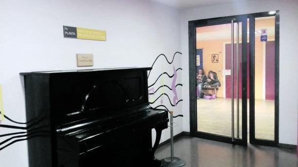 Les instal·lacions de l'Institut de Música de la capital, a la quarta planta de la Llacuna.