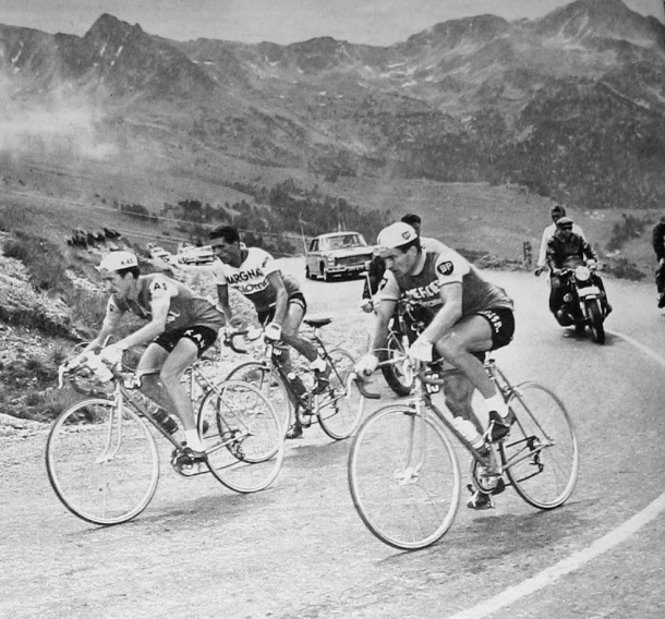 Tour, Andorra, 1964, Anquetil, Envalira, Poulidor, Julio Jiménez, Bahamontes, Groussard, ciclisme