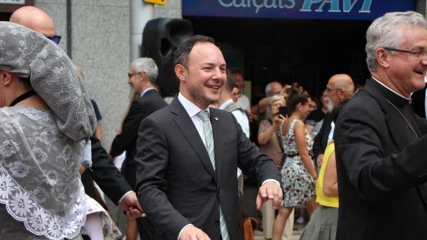 El cap de Govern Xavier Espot, i el Copríncep Joan-Enric Vives, al ball de Santa Anna que va tenir lloc divendres a Escaldes.