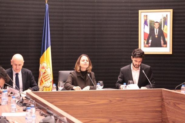 Rosa Gili presideix el consell de Comú que va tenir lloc divendres amb un únic punt a l'ordre del dia: la demanda de Casa Trenella.