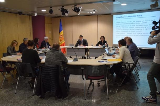 La primera reunió del Consell Econònic i Social va tenir lloc divendres sota la presidència de Jordi Gallardo.