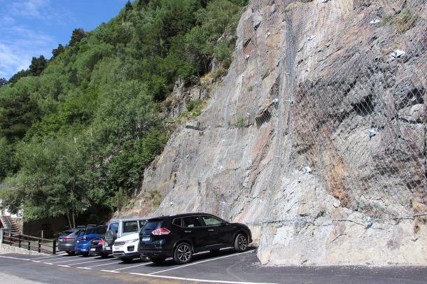 Una imatge de la millora que s'ha fet a la carretera de Sorteny.