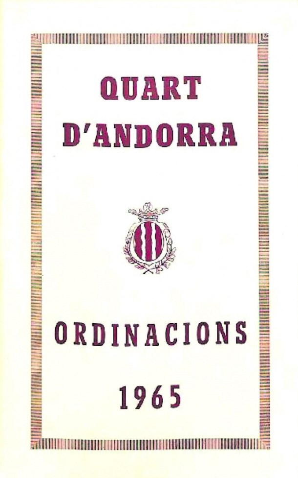 Andorra, arxiu, ordinacions, document del mes, ayala,1965