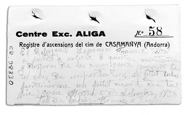 Andorra, Arxiu Nacional, Casa Rossell, fons, Casamana, centre excursionista Àliga, Àliga, Francesc Víctor