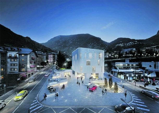 El projecte guanyador del concurs del nou Museu de l'Automòbil, obra dels arquitectes Gerard Veciana i Lluís Ginjaume.