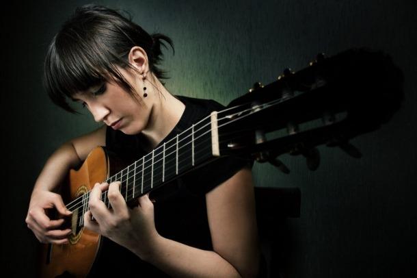 La guitarrista castellana Silvia Nogales.