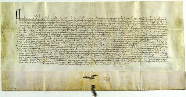 Privilegi del bisbe Tovià atorgat el 1419 i considerat el reconeixement oficiós del Consell de la Terra, conservat als fons de Casa Rossell.