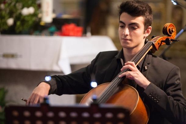 El violoncel·lista Jordi Albelda Santamargarita.