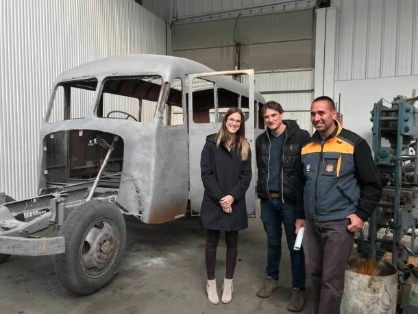 La ministra Riva va visitar el 31 d'octubre el Fargo al taller del COEX a la capital.