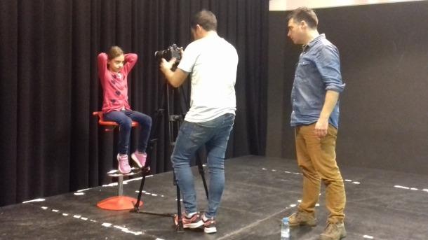 La Blanca, 7 anys, també va provar sort a la primera sessió del càsting de 'Fred'.