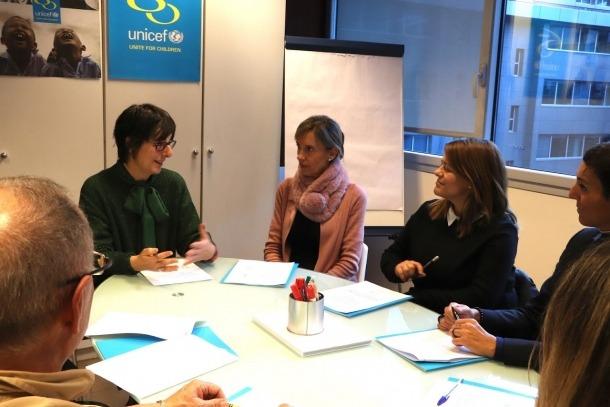 La reunió de Demòcrates amb Unicef.