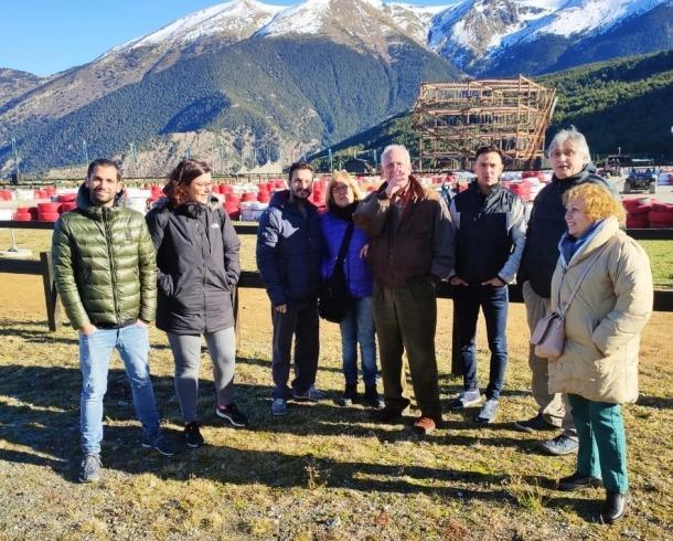 Els integrants de la candidatura durant la visita a Naturlàndia.
