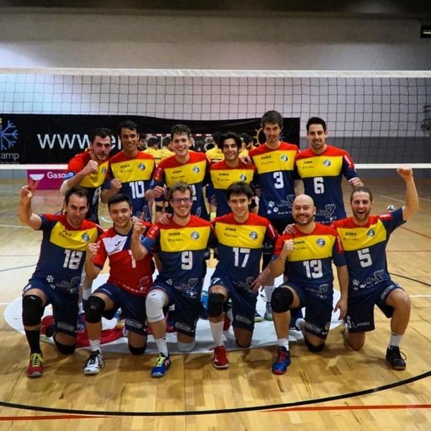 Els membres de l'equip del CV Encamp que juguen a primera nacional.
