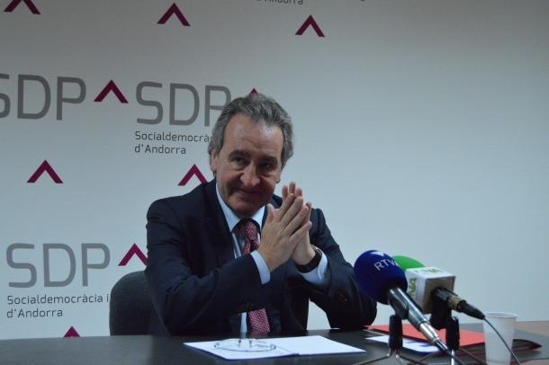 Jaume Bartumeu en una roda de premsa
