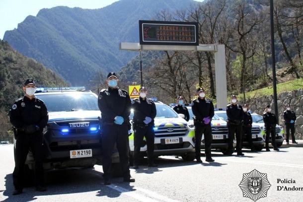 Control policial a la CG-2.