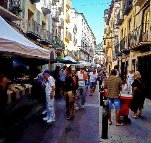 Imatge del tradicional mercat de la Seu, que dimarts presentarà una imatge ben diferent
