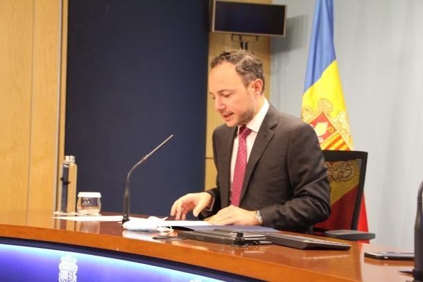 El cap de Govern, Xavier Espot, en la compareixença d'aquesta tarda.