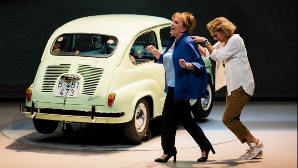 Una escena de l'obra que va passar dijous passat per l'escenari de l'auditori Claror.