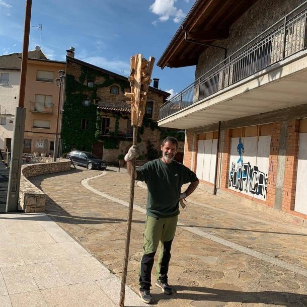 Carles Gascón, tècnic de cultura del Consell Comarcal de l'Alt Urgell i futur fallaire.