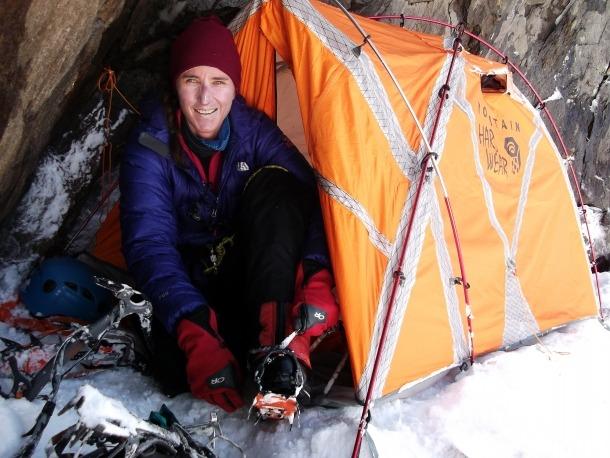 L'alpinista sudafricana afincada a la Massana, durant aquella expedició a l'Everest.