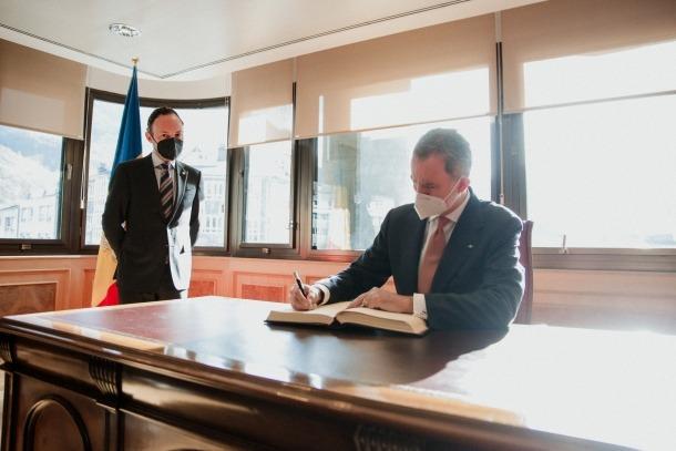 Visita dels reis d'Espanya a Andorra - Felipe VI - Xavier Espot