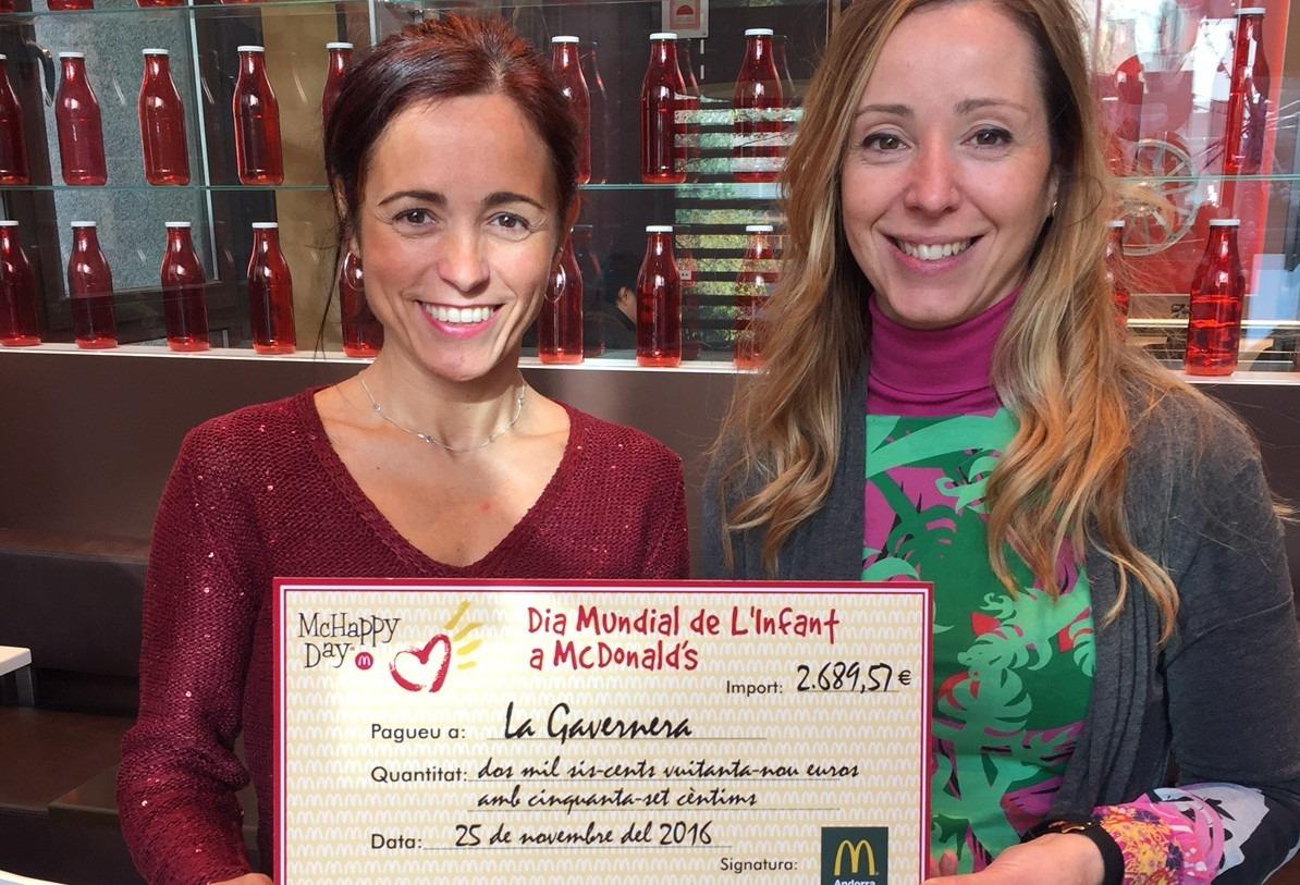McDonald's recull gairebé 2.700 euros per al centre de la Gavernera