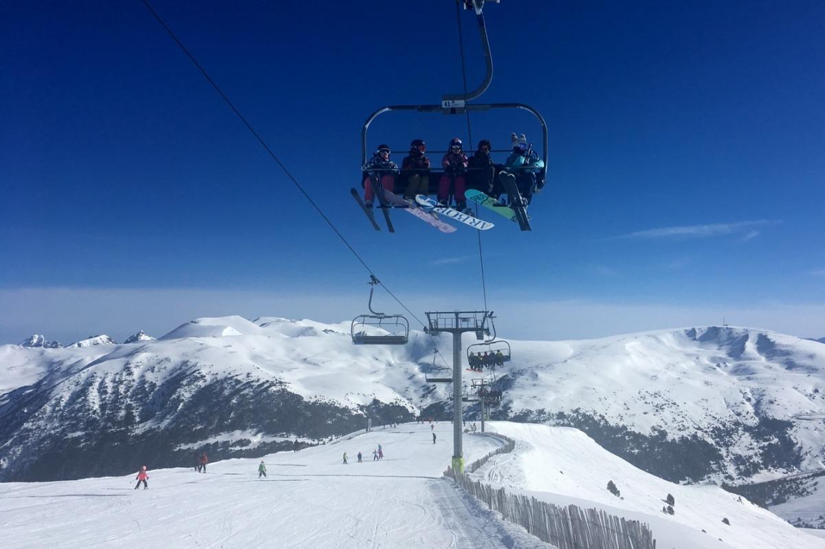 Esquiadors a Grandvalira aquest cap de setmana.