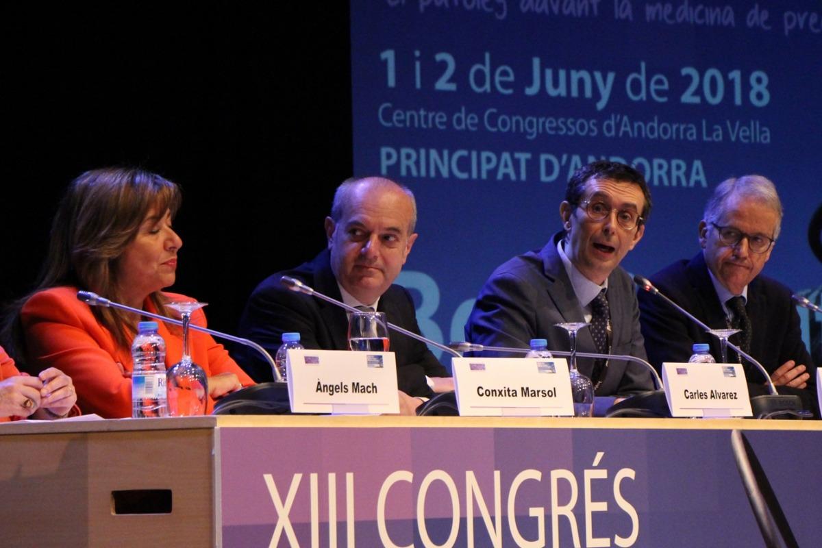 ANA/ El ministre Carles Álvarez aquest divendres al congrés d'Anatomia Patològica.