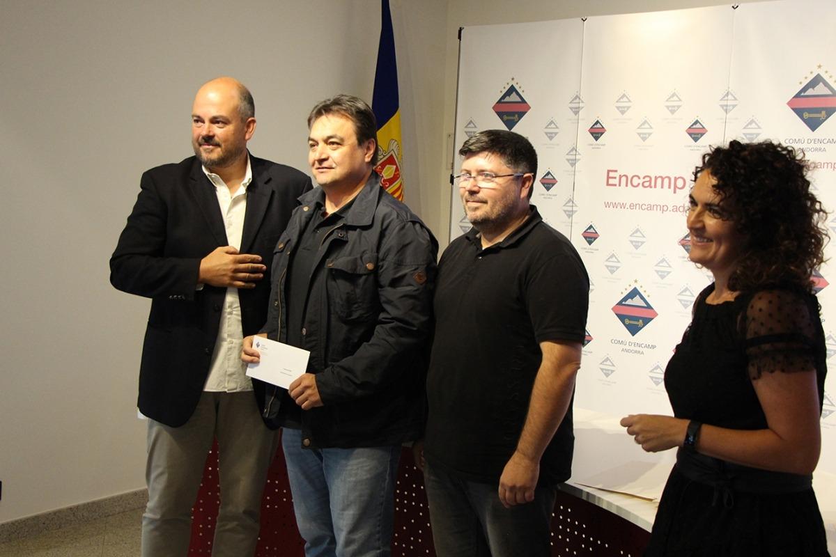 L'entrega dels premis als participants.