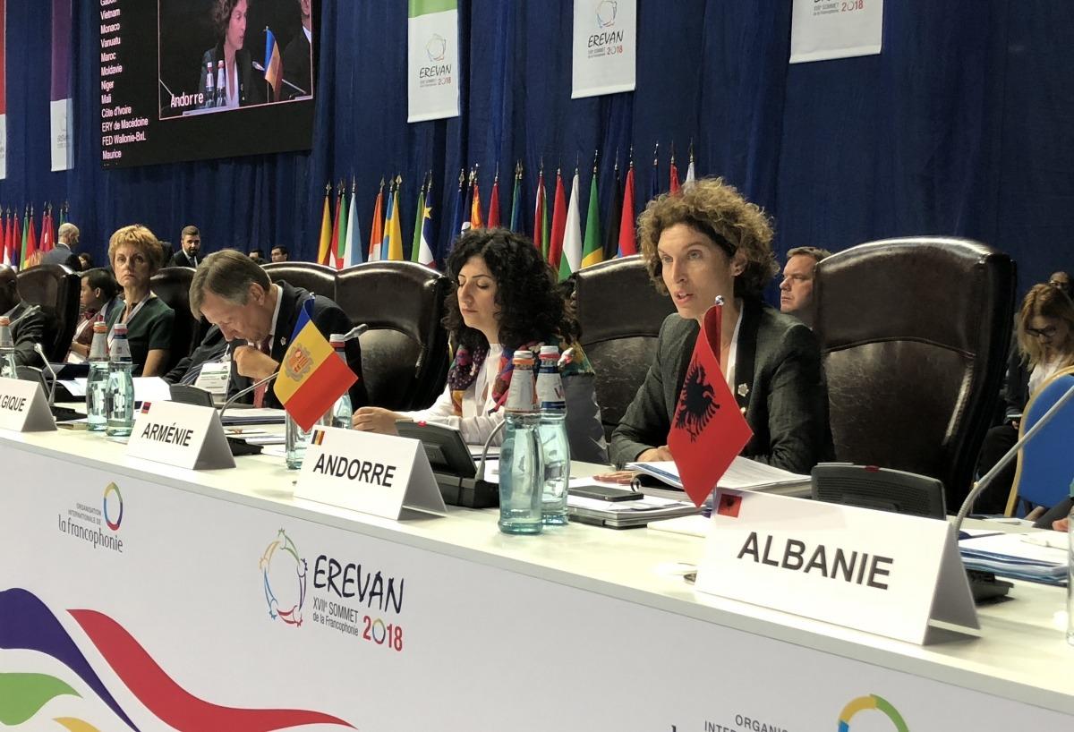 La participació de la ministra d'Afers Exteriors, Maria Ubach, a la 35a Conferència ministerial de la francofonia.