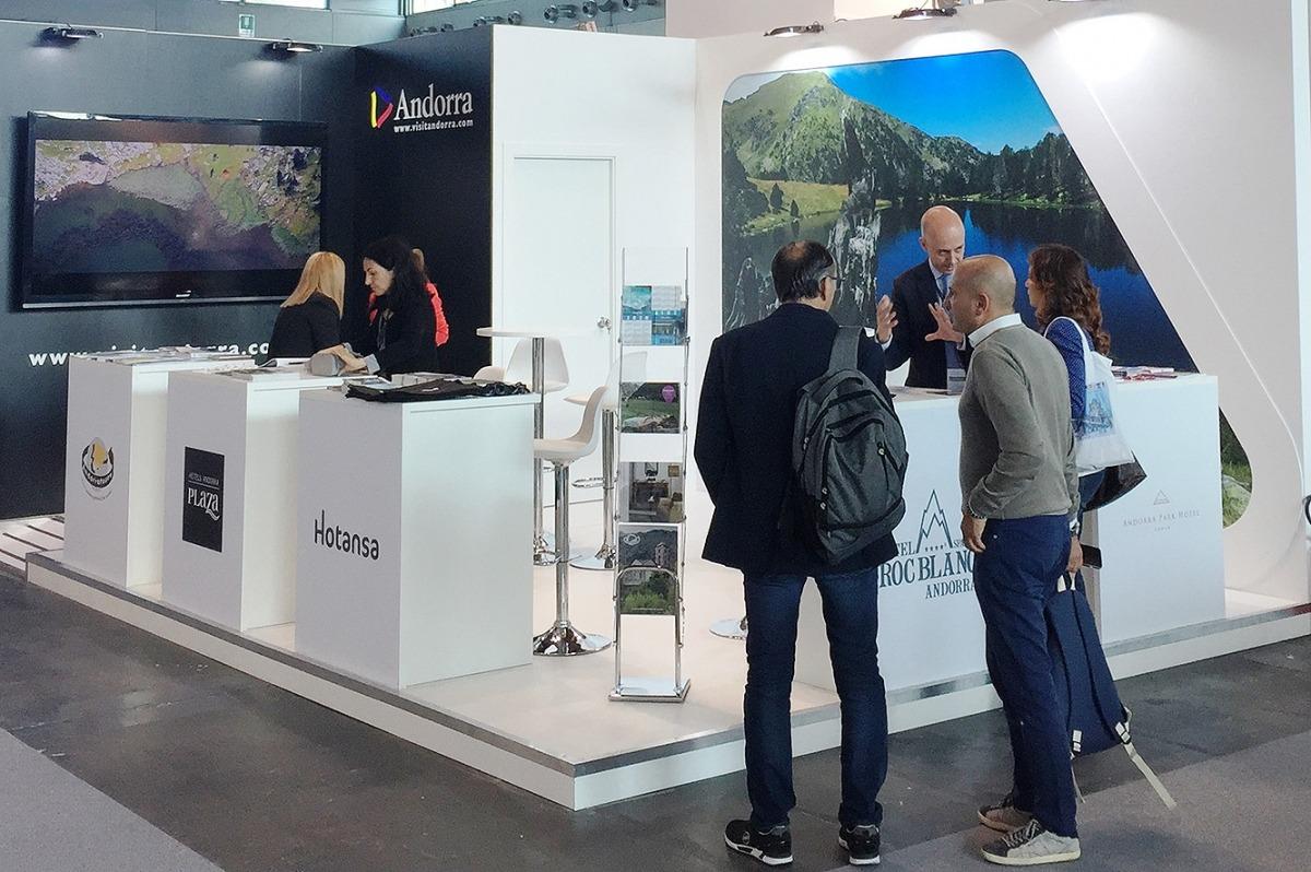 L'estand que Andorra té a la fira TTG Incontri Rimini.