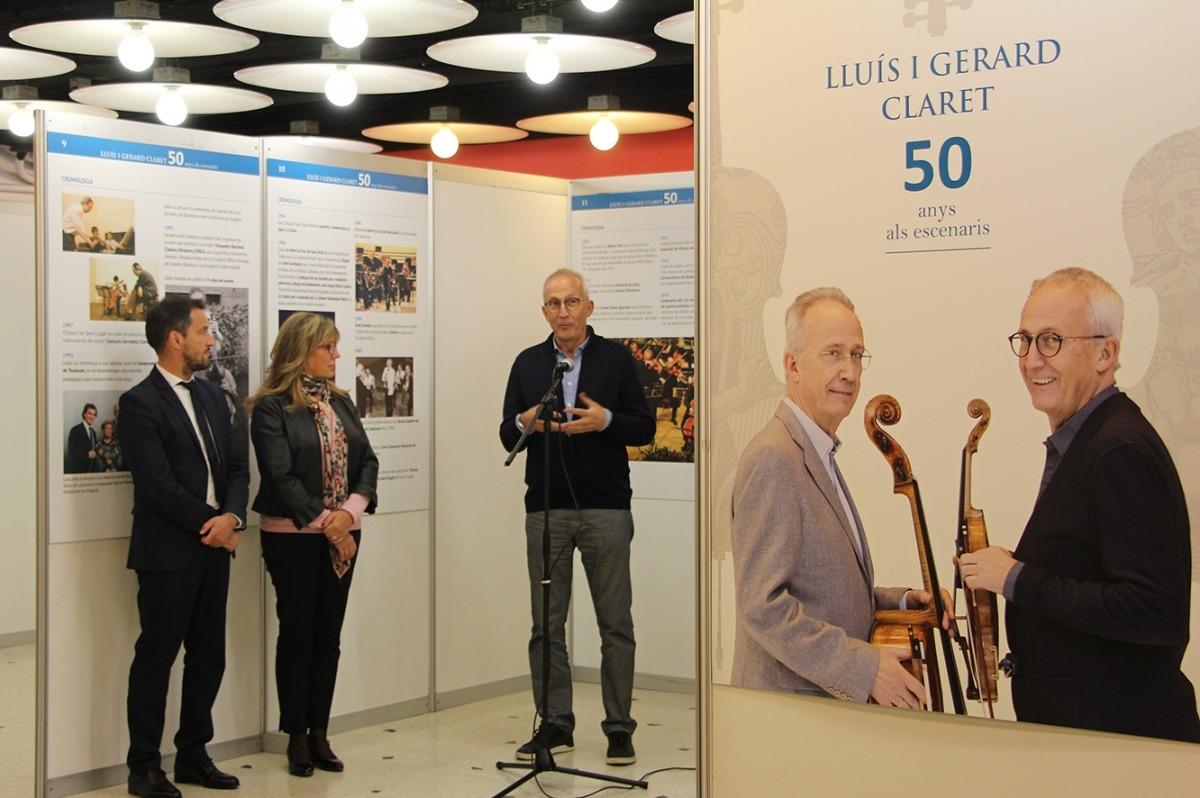 Gerard Claret, en la inauguració de l'exposició fotogràfica que el Comú els va consagrar a la Llacuna al novembre.