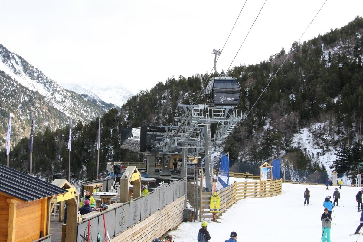 L'estació d'Arcalís, durant una jornada d'esquí d'aquest hivern.