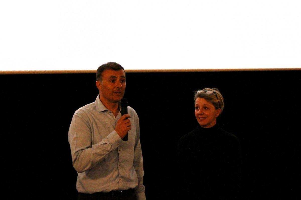Nathalie Rahmstorf i Marc Rossell en la presentació de la pel·lícula.