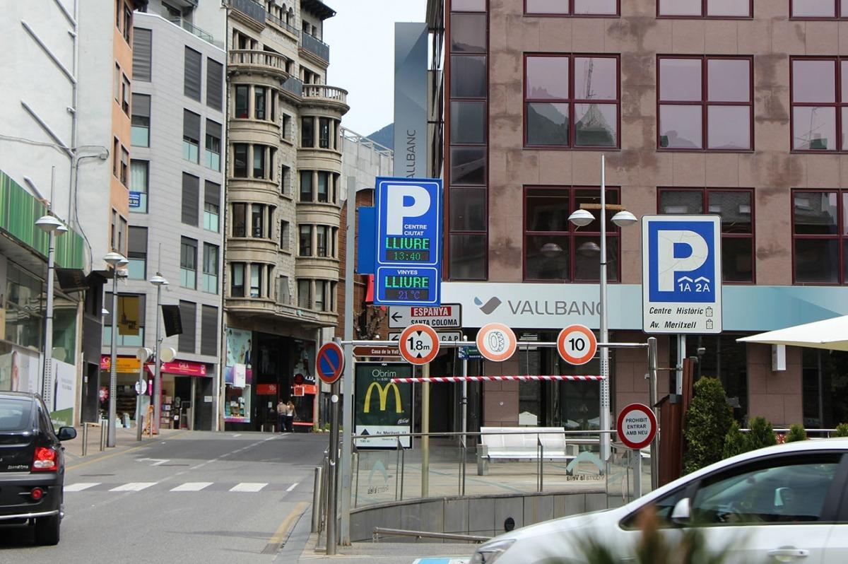 Andorra la Vella estrenarà a finals de maig el sistema per informar de les places d'aparcament disponibles