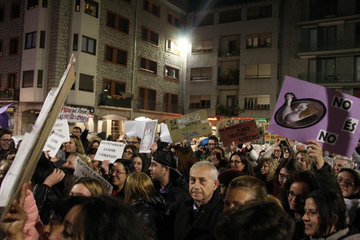 Un moment de la concentració feminista del passat 8 de març.