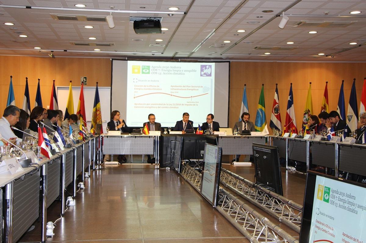 Un moment de la trobada anual de la Xarxa Iberoamericana d'Oficines del Canvi Climàtic (RIOCC).